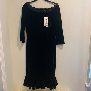 Misslook Black Dress (Size 12)